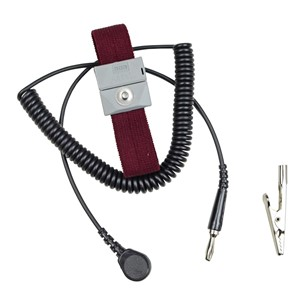 2224-WRIST STRAP, ADJUSTABLE, WITH 10' COILED CORD