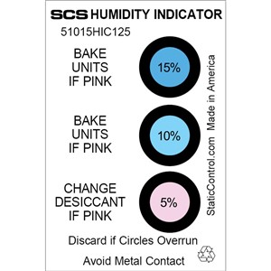 51015HIC125-HUMIDITY CARD, 5-10-15%, 125/CAN
