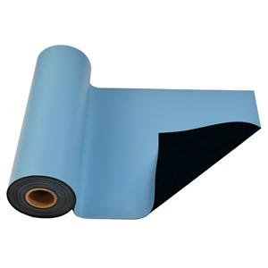 770072-MAT ROLL, RUBBER, R3, LIGHT BLUE, 36'' x 50'