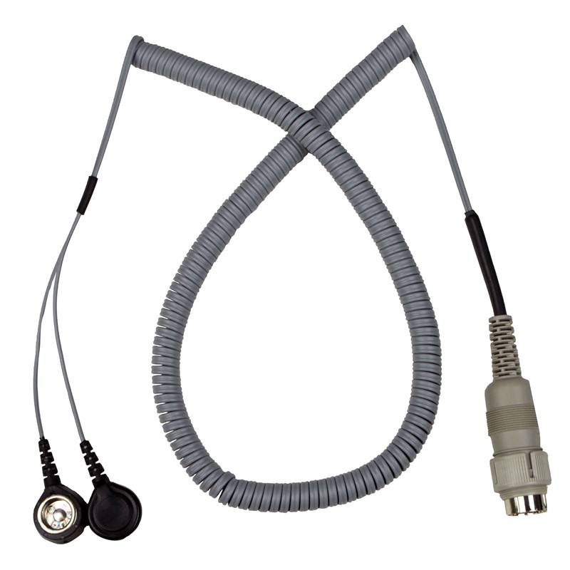 741DC-CORD, DUAL CONDUCTOR, W/DUAL 10MM SNAP, 10 FT