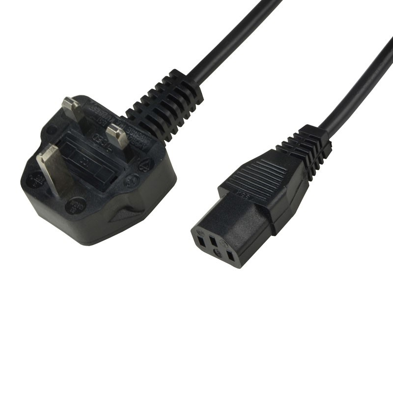 770001-POWER CORD, IEC C-13, UK PLUG
