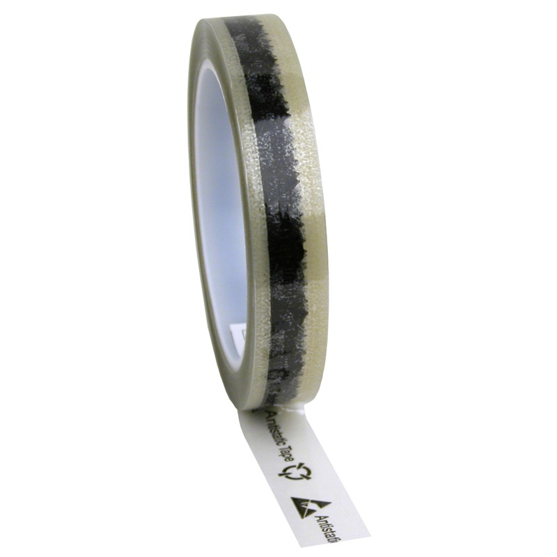 780006-TAPE, CLEAR, ESD, PRINTED, 3/4''x72 YDS, 3'' PLASTIC CORE