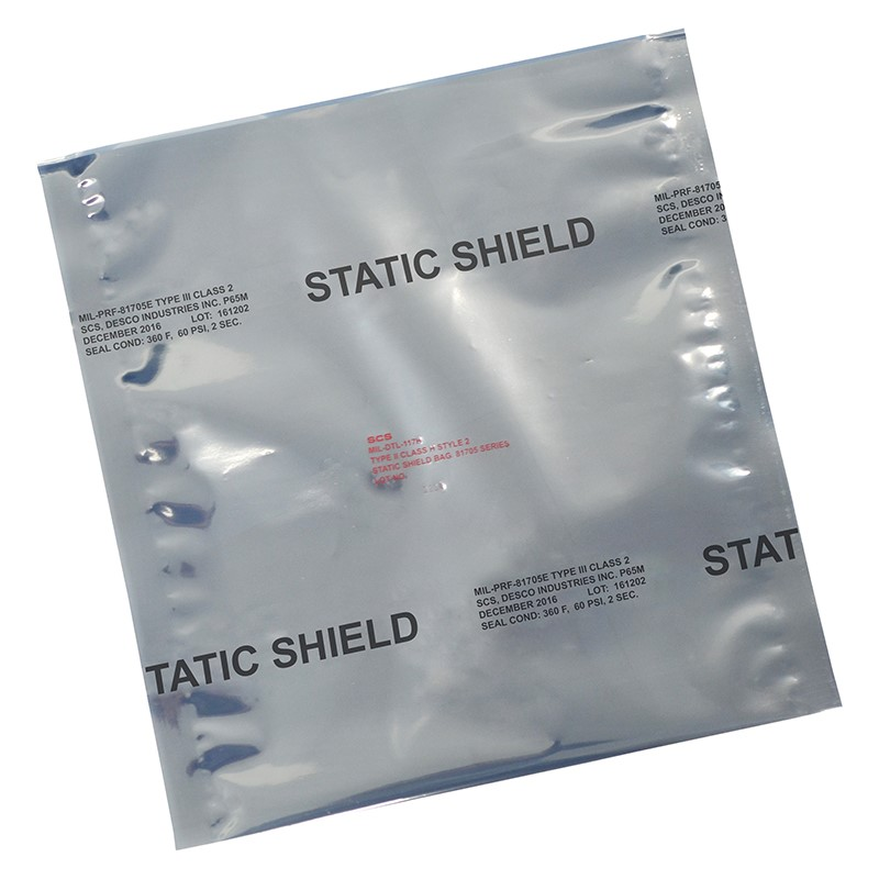 817818-STATIC SHIELD BAG,81705 SERIES METAL-IN, 8x18, 100 EA