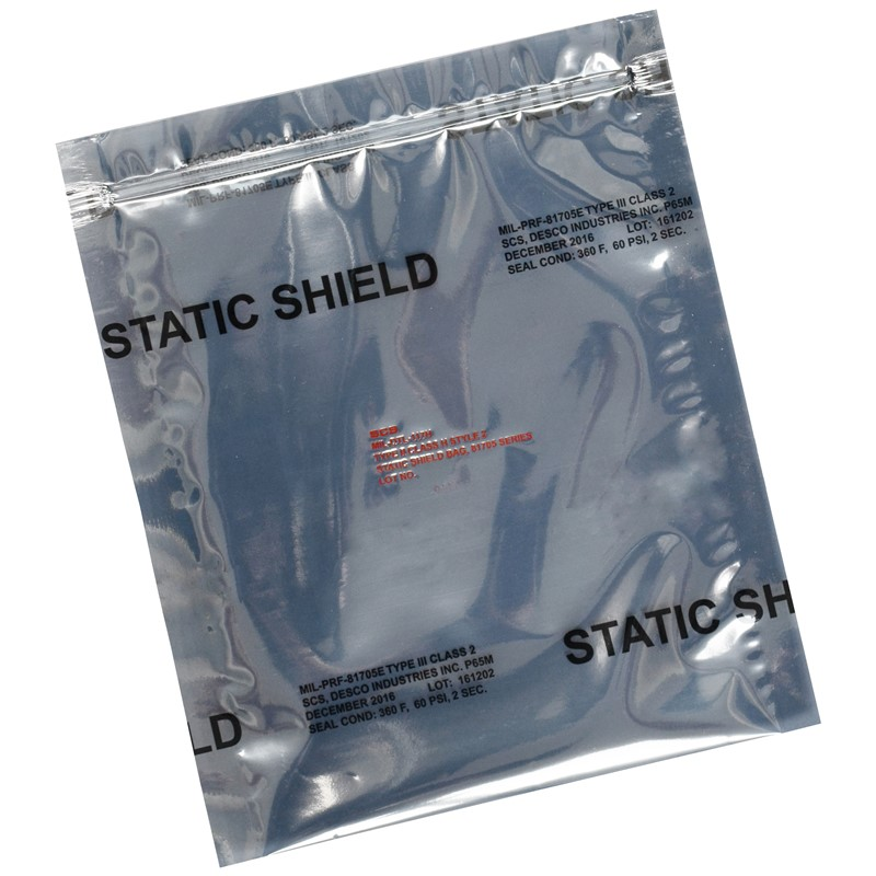 817Z810-STATIC SHIELD BAG,81705 SERIES METAL-IN, ZIP, 8x10, 100EA
