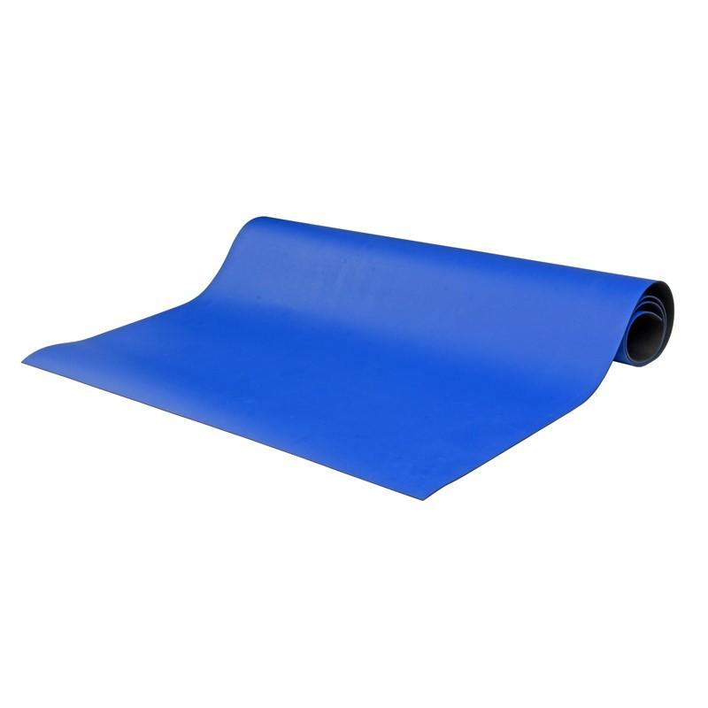 """8821-MAT ROLL, 2-LAYER RUBBER, 8800 SERIES, BLUE, 0.065""""x30""""x40'"""