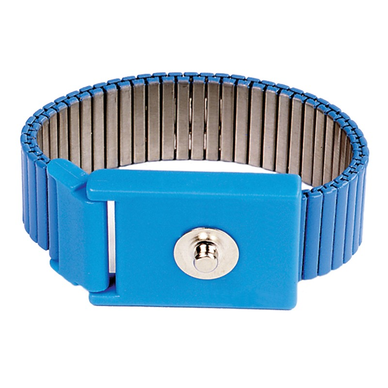 AMWS-WRISTBAND, ADJUSTABLE METAL, 4MM SNAP