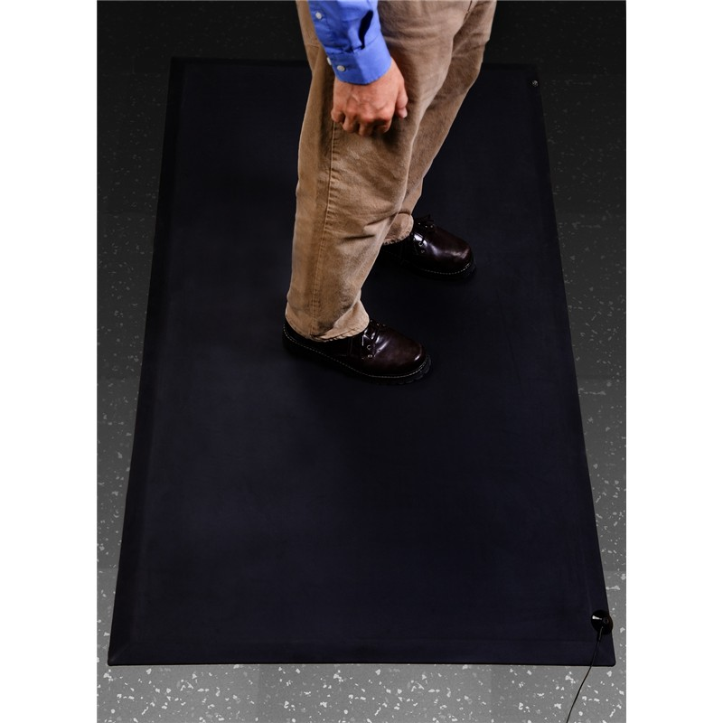 "9900-MAT, ANTI-FATIGUE, RUBBER, BLACK, 0.600"" x 3' x 5'"