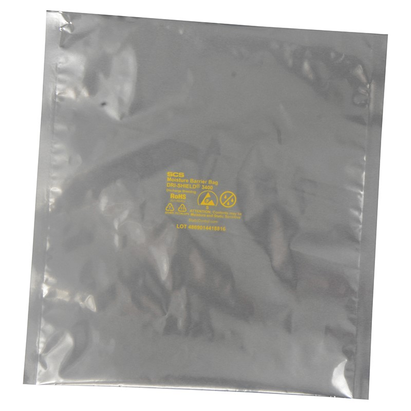 D34Z1020-MOISTURE BARRIER BAG, ZIP, DRI-SHIELD 3400, 10x20, 100 EA
