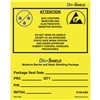 DRILABEL-DRI LABEL, ESD AWARENESS, EIA 583 SYMBOL, 4IN x4IN, 100/ROLL
